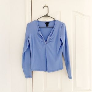 Moda International Periwinkle Top With Crystals